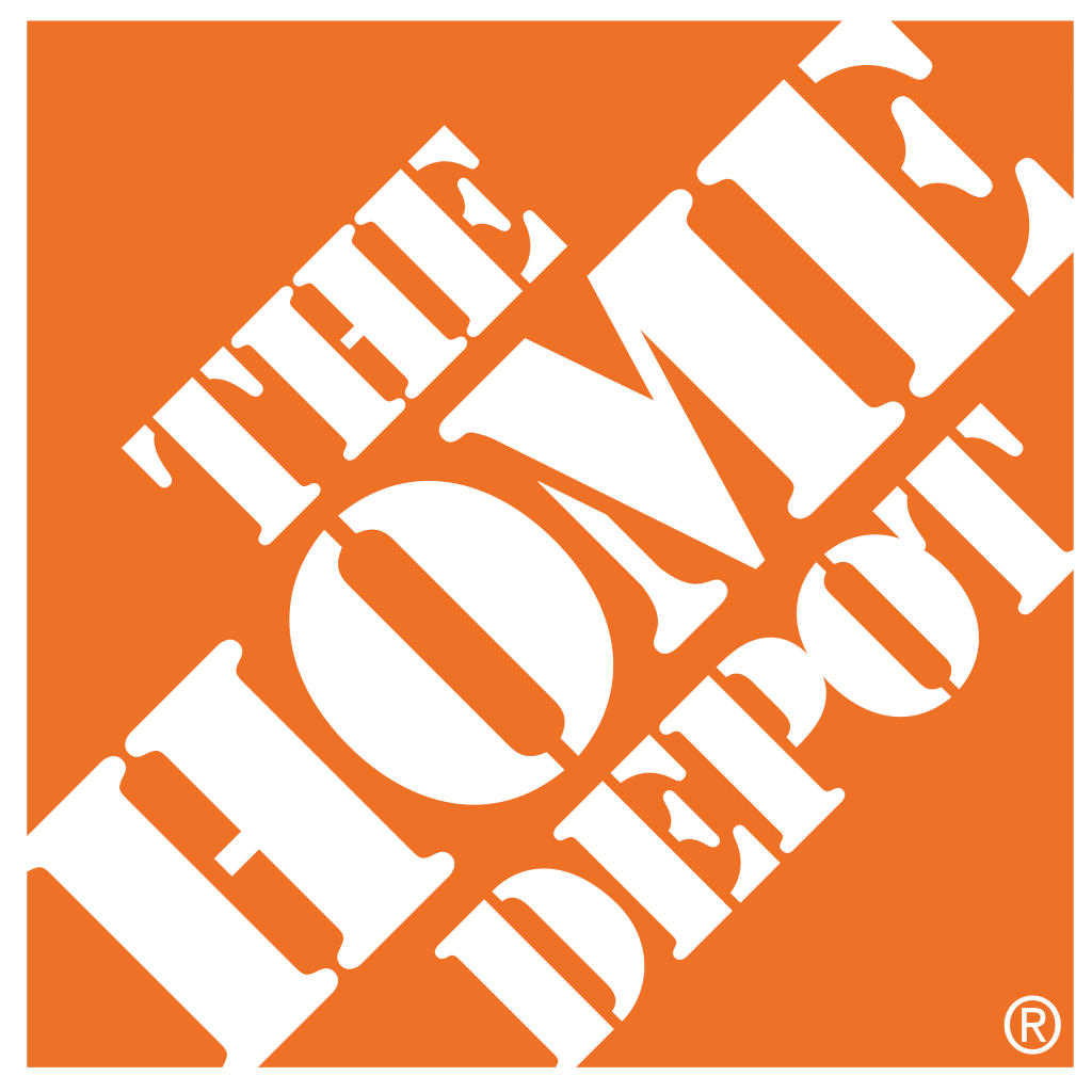 The Home Depot logo – white background (white-orange)